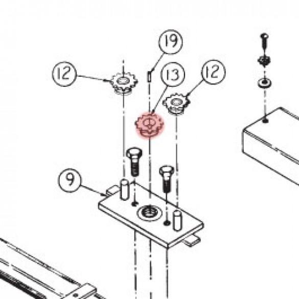 Linear / Osco 2200-004 Sprocket (40-B-13, 1