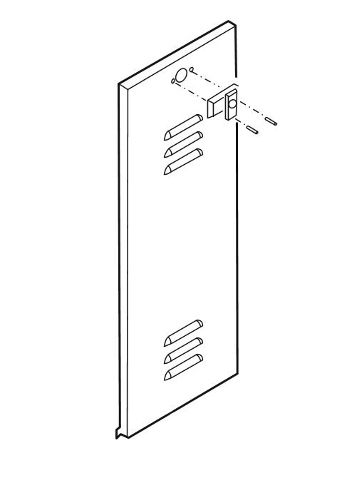 Linear / Osco 2110-318-YS Door Louvered with Lock BG BGU