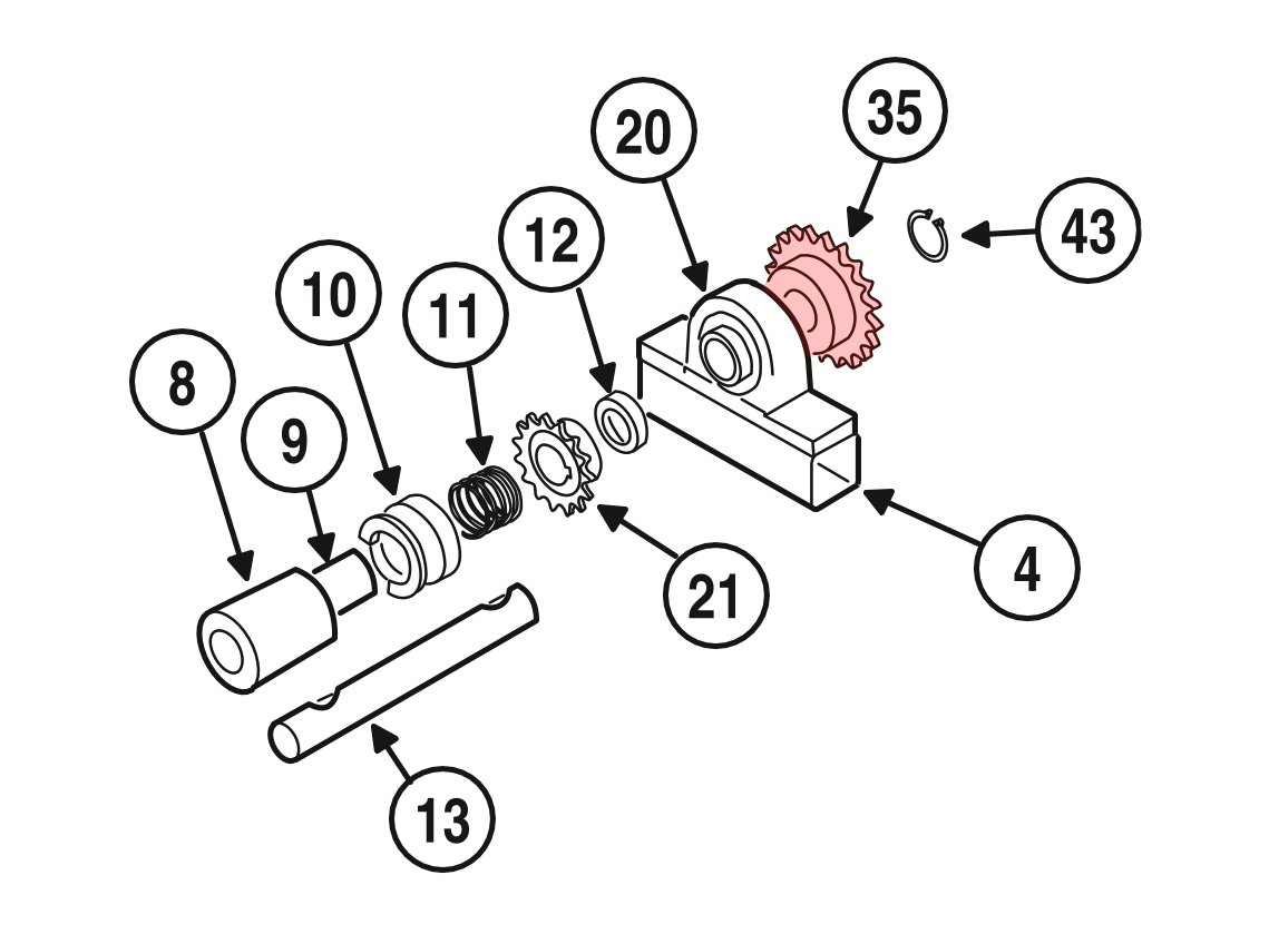 Linear / Osco 2200-269 Sprocket (41-B-20, 1