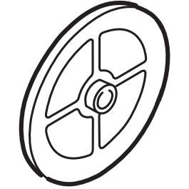 """Linear / Osco 2200-969 Pulley, 8"""", 7/8"""" Bore (for 1 HP"""