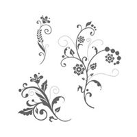 Flowering Flourishes Clear Stamp Set