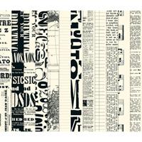 Newsprint Designer Series Paper - Digital Download