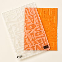 Alphabet Press Textured Impressions Embossing Folder
