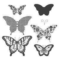 Papillon Potpourri Wood Stamp Set