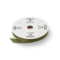 """Mossy Meadow 3/8"""" Satin Stitched Ribbon"""