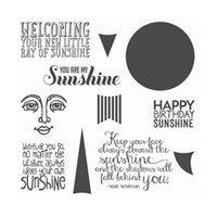 Ray Of Sunshine Clear-Mount Stamp Set