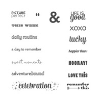 Project Life Remember This Photopolymer Stamp Set