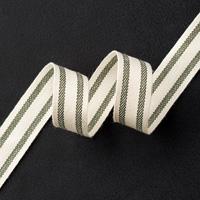 "Mossy Meadow 5/8"" Striped Cotton Ribbon"