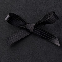 "Basic Black 3/8"" Stitched Satin Ribbon"