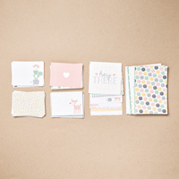 Hello Baby Girl Project Life Card Collection