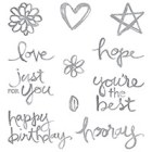 Watercolor Words Photopolymer Stamp Set