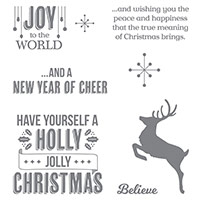 Jolly Christmas Clear-Mount Stamp Set