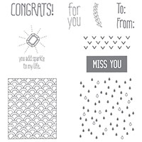 Sparkle & Shine Clear-Mount Stamp Set