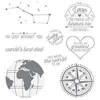 Going Global Clear-Mount Stamp Set