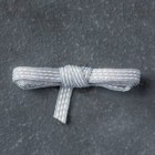 "Smoky Slate 1/8"" (3.2 Mm) Stitched Ribbon"