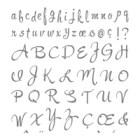 Brushwork Alphabet Photopolymer Stamp Set
