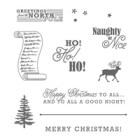 Greetings From Santa Clear-Mount Stamp Set