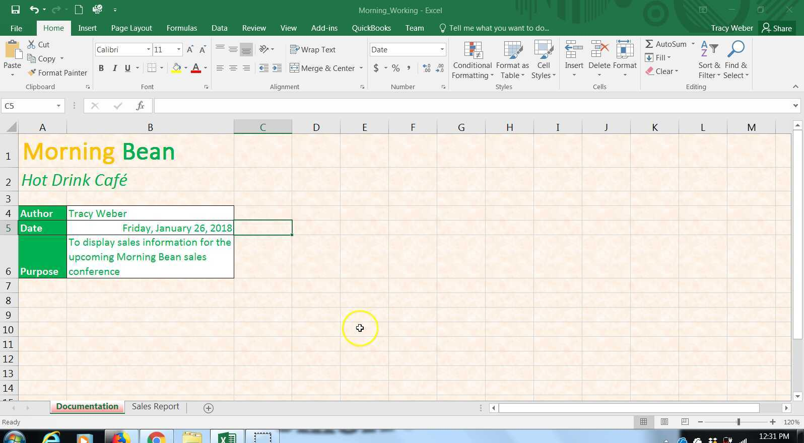 Advanced Computer Applications Excel Module 2 Formatting