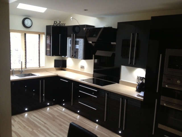 best kitchen designs blue chairs the design ideas experts in black hi gloss acrylic