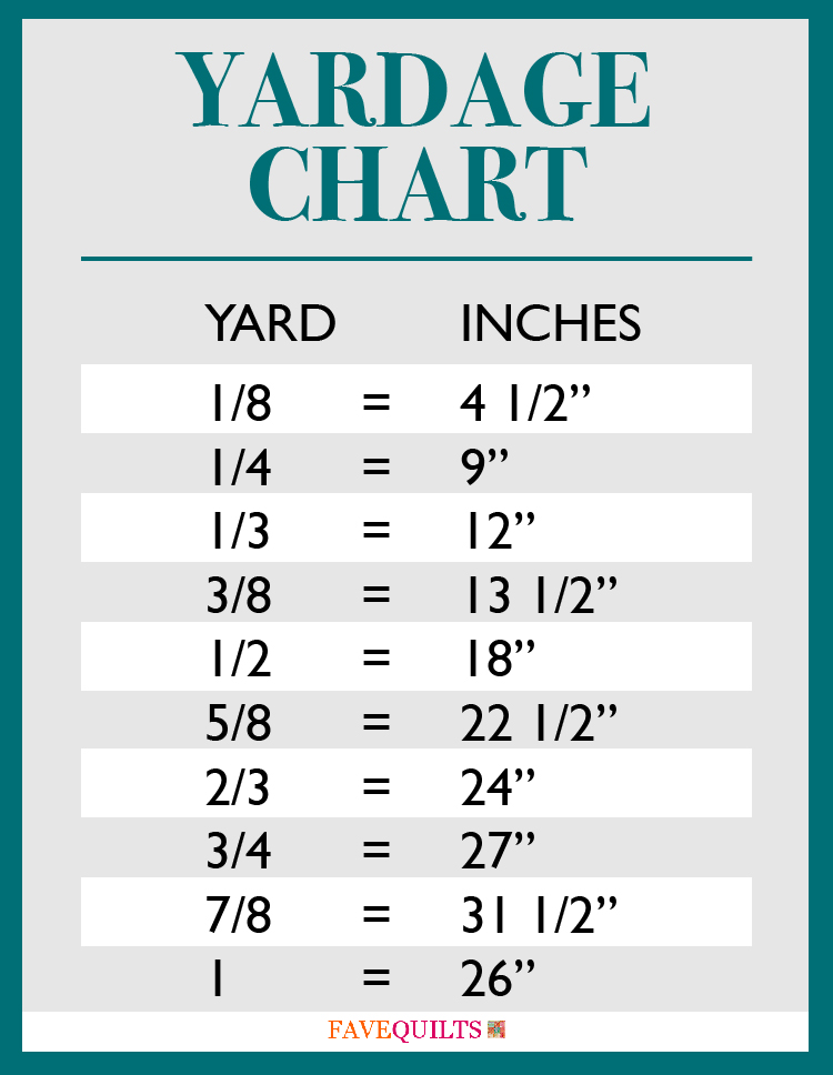 Free Printables Yardage Charts Amp Bedding Dimensions