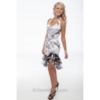 "6334 ""Debbie"" Short Halter with Camo Trim Camouflage Prom ..."
