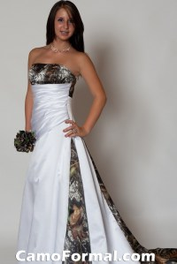 3137 Camo and Satin Bridal Gown Camouflage Prom Wedding ...
