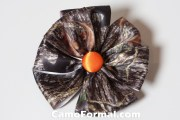 camo hair bow and barrette camouflage