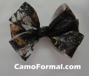 camo hair bow barrette camouflage