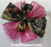 camo hair bow barrette
