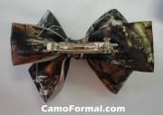 camo hair bow barrette large
