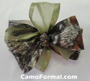 camo hair bow barrette