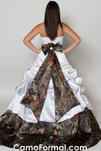 Camo Pickup Ball Gown Camouflage Prom Wedding Homecoming ...
