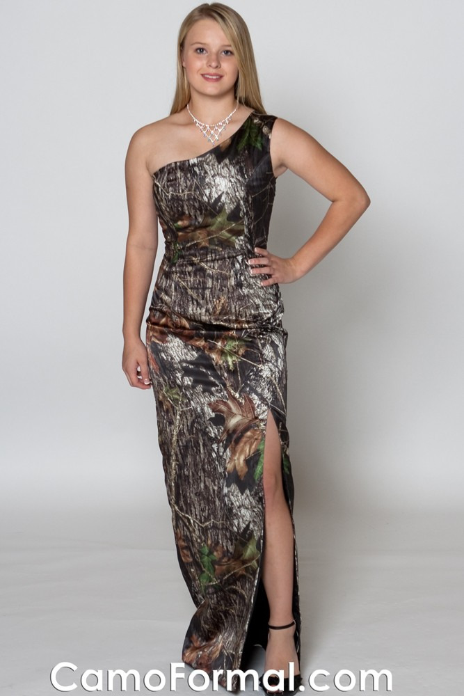 8082 Camo Cold Shoulder Long Formal Camouflage Prom Wedding Homecoming Formals