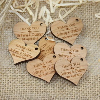 Laser Engraved Wooden Gift Tag ALL YOU NEED IS LOVE