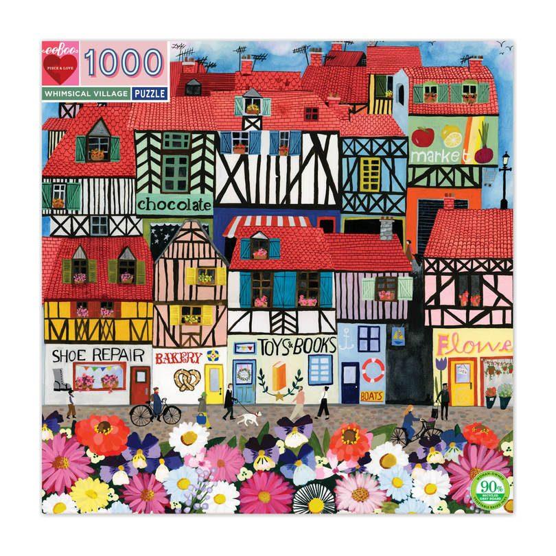 Whimsical Village 1000-Piece Puzzle - Puzzles - Maisonette