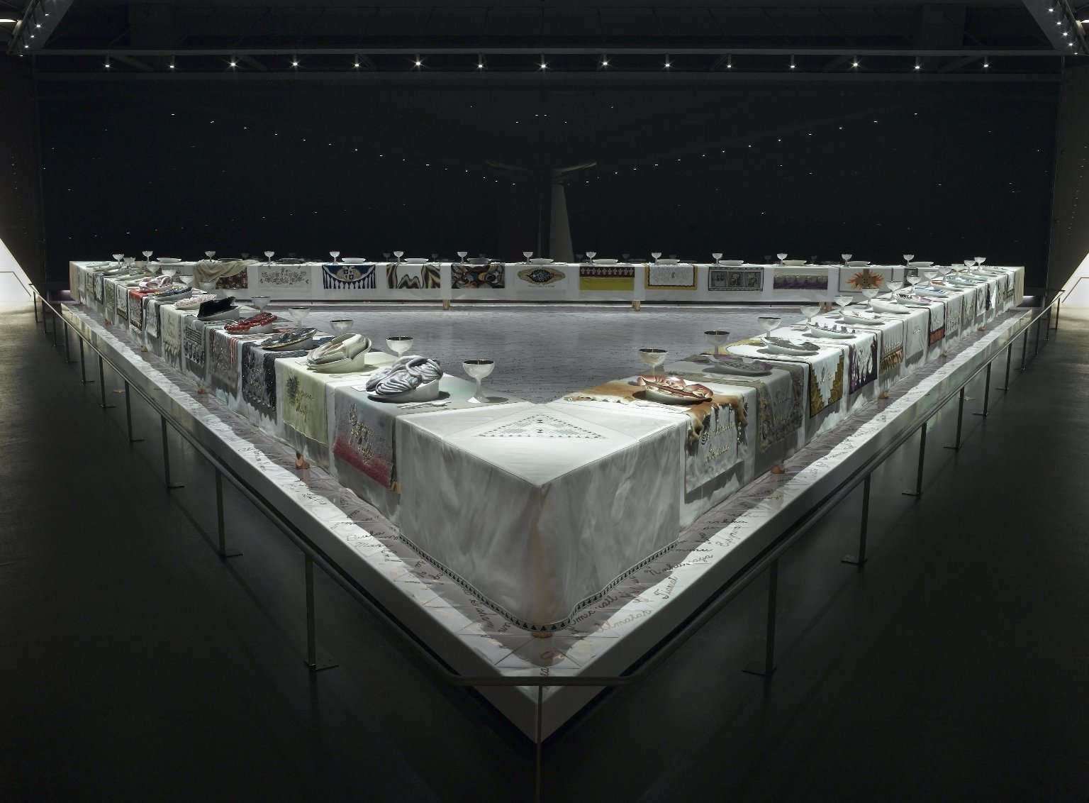 hight resolution of the dinner party by judy chicago