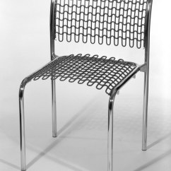 David Rowland Metal Chair Lounge Leather Brooklyn Museum American Born 1924 Sof Tech Side Designed 1979 Tubular Steel Pvc Coated 29 3 4 X 19 16 7 8 In