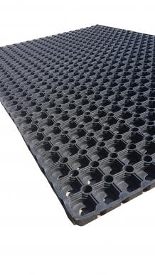 tapis caillebotis en caoutchouc 80 x 120 x 23mm