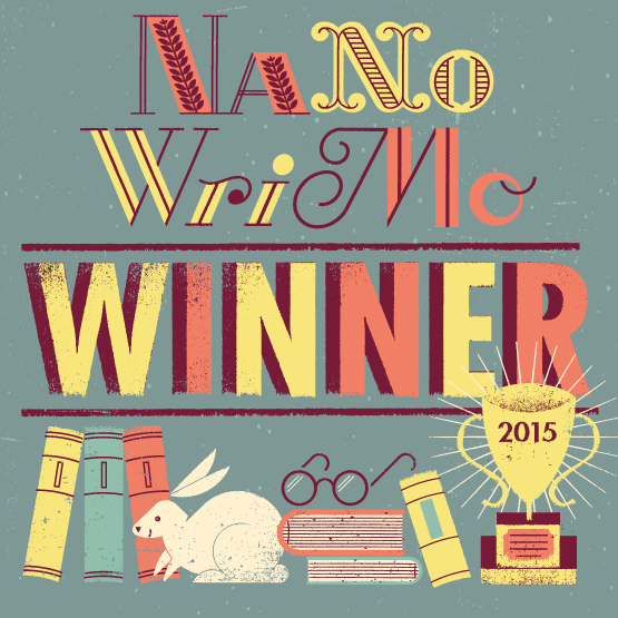 NaNoWriMo 2015 winner's badge