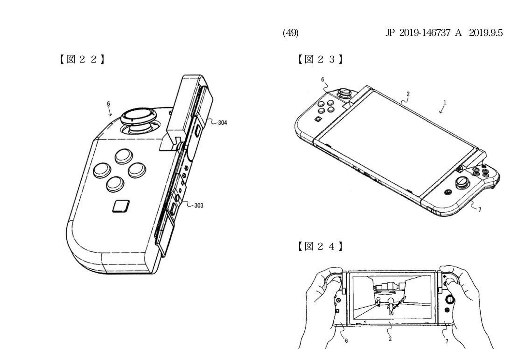 Nintendo patent surfaces for weird bendy hinged Joy-Con