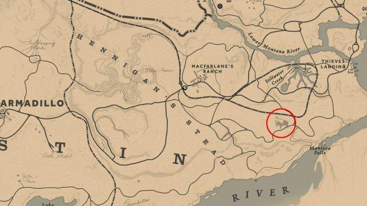 Ubicación del legendario bisonte Tatanka