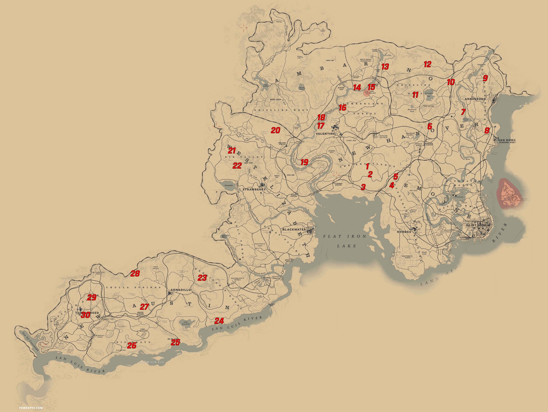 all dinosaur bone locations