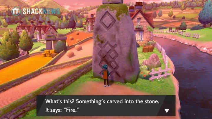 Acertijo de piedra de Turffield - Ubicación de la piedra de fuego