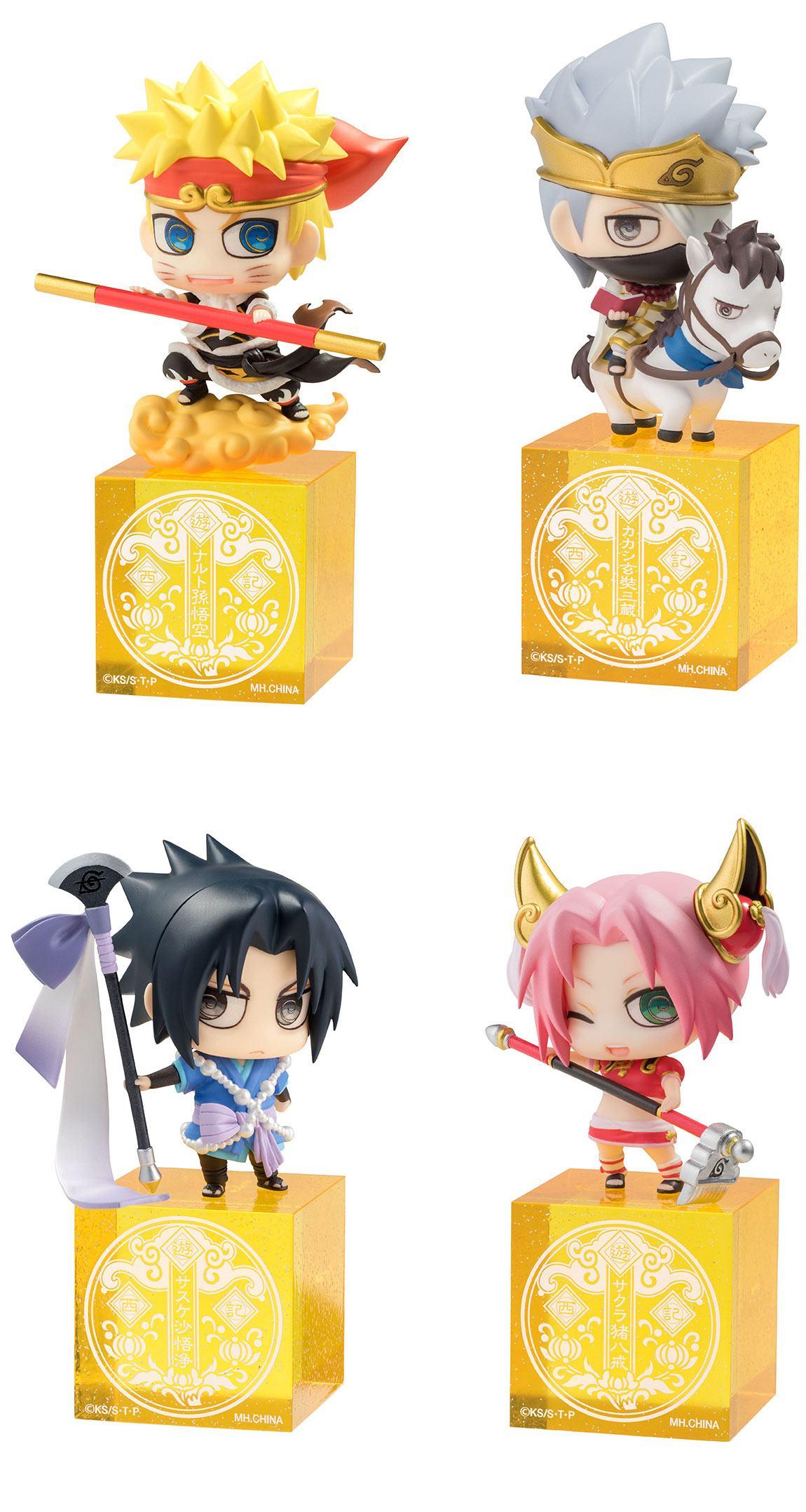 Naruto Shippuden Petit Chara Land Trading Figure 4 Pack