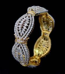 Buy BEAUTIFUL CZ STONE STUDDED OPENABLE KADA bangles-and-bracelet online