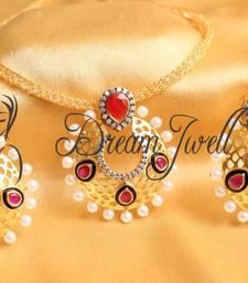Buy GORGEOUS CZ BALI PENDANT NECKLACE SET necklace-set online