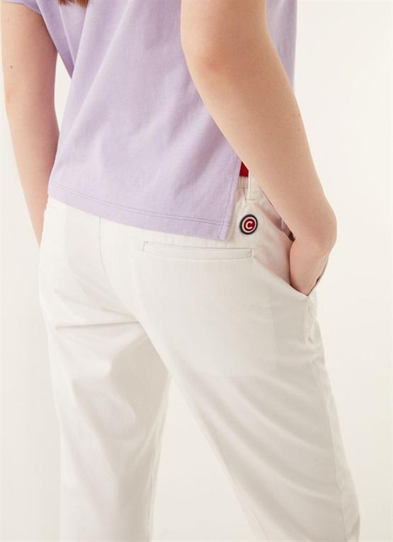 pantaloni a sigaretta effetto raso