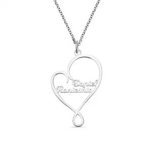 Personalized Heart and Hug Necklace for Mom