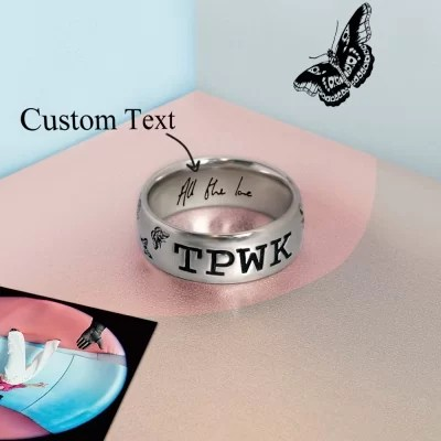 Harry Styles TPWK Ring with Customed Engraving