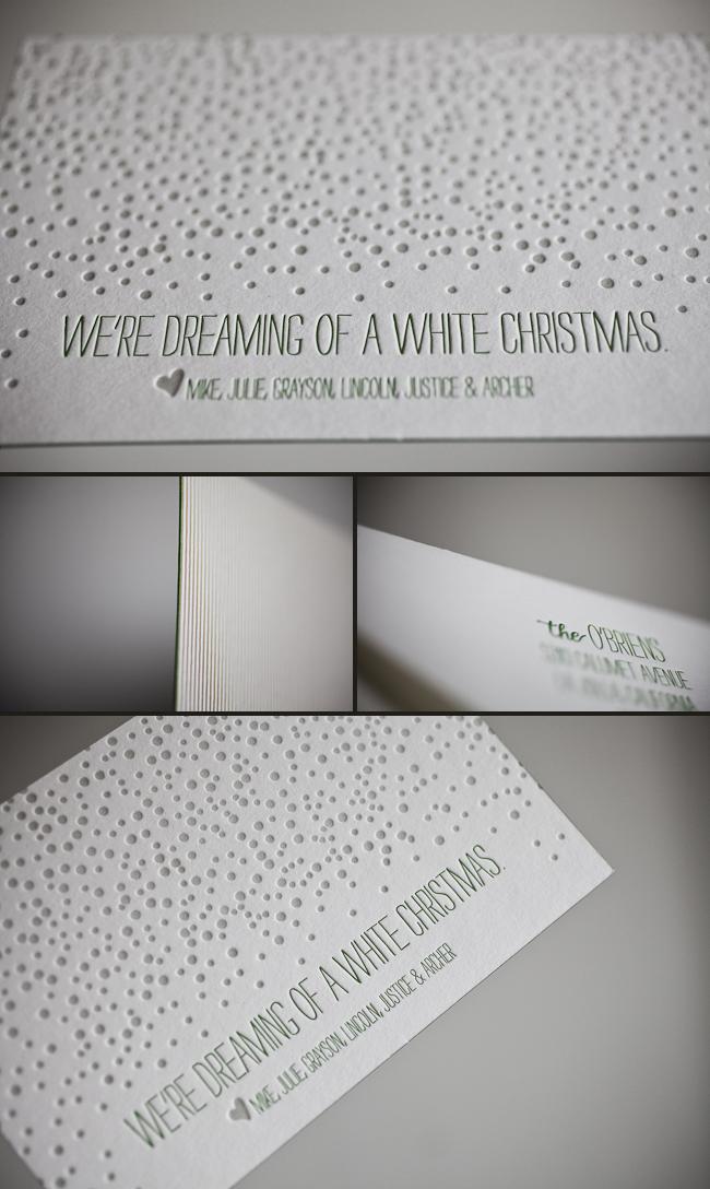 Letterpress Christmas Cards Smock